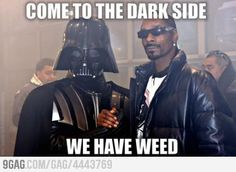 The Dark Side has all the good stuff... Cookies, weed....