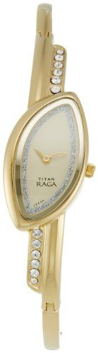 Titan Raga Analog Champagne Dial Women's Watch Cute Watches, Bracelet Watch, Champagne, Arms, Jewellery, Jewels, Lady, Bracelets, Accessories