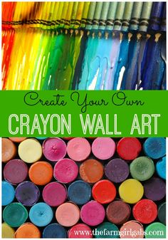 Simple and easy steps to Create Your Own Crayon Wall Art Masterpiece. Perfect for a teen, tween or kids bedroom or playroom.