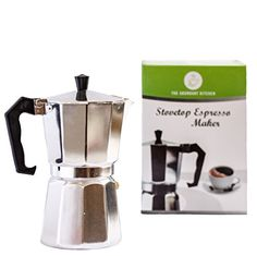 The Abundant Kitchen Classic 6 Cup Stovetop Espresso Maker *** You can find more details by visiting the image link.