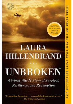 This is a wartime tale of Louis Zamperini who, after not only competing in the Olympics but also fighting in World War II, survives a plane crash and spends 47 days adrift on the ocean comes to theaters this December. #booksintomovies #unbroken