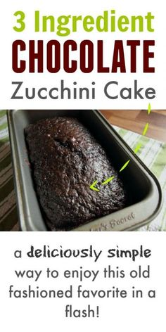 Chocolate Zucchini Cake with Cake Mix – The Creek Line House
