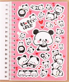 pink mochi panda bear sticker album book by Kamio from Japan || WHY!? Why don't they have cute stuff like this here!?
