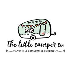 Premade Logo & Blog Header - Camper Premade Logo Design - Customized with Your Business Name!