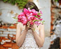 cute bouquet of pink peonies!