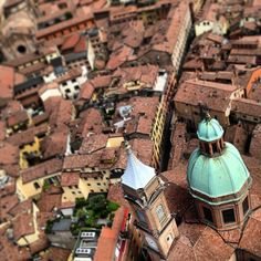 Climbing the tallest tower in Bologna affords incredible views of the city. Though looking down now it's hard to imagine that the city was once filled with them. Fewer than 20 towers still remain but at one time the skyline was a tangle of almost 200 towers built by the wealthy families as symbols of their power and prestige and as a means of defense - Instagram by @Kirsten Alana