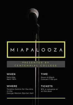The event of the year that you do not want to miss out on! Join us at #Miapalooza15. This is our year-end concert that showcases #CentennialCollege's talented student ensembles of the Music Industry Arts & Performance (MIAP) program. You'll hear a variety of music styles from hip-hop, soul and rock to heavy metal and acoustic pop Centennial College, Recital, Music Industry, Heavy Metal, Acoustic, Hip Hop, Join, 18th, Student