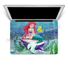 keyboard decal macbook decals mac pro keyboard decal by MixedDecal, Claudia Rodriguez, Macbook Decal, Laptop Decal, Ariel The Little Mermaid, Mermaid Disney, Laptop Stickers, Keyboard Sticker, Apple Ipad, Apple Laptop