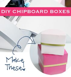 IHeart Organizing: DIY Chipboard Boxes with your Silhouette - perfect for organizing or gift giving!