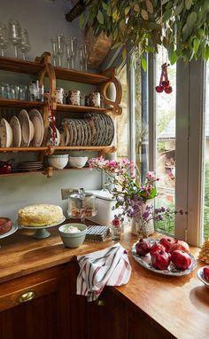 Küchen Design, House Design, Wood Design, Design Ideas, Interior Design, Cozy House, Home Kitchens, Small Kitchens, Kitchen Decor