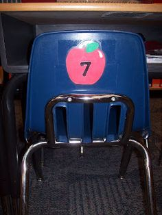 Around December the name tags on the student desks start to look horrible. They start peeling up and coming off. I take them off the desks and the students just use the number on the back of their chair to know where they sit.