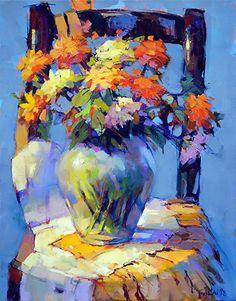 'Yellow and White Apron' by Trisha Adams