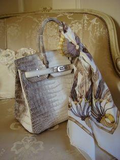 Hermès Birkin bag and scarf Hermes Birkin, Hermes Bags, Hermes Handbags, Tote Handbags, Purses And Handbags, Fashion Bags, Fashion Accessories, Best Bags, Luxury Bags