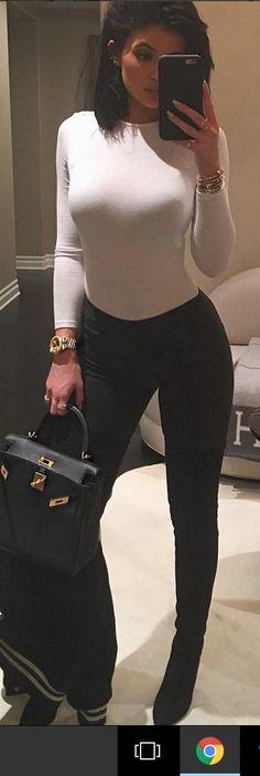 Kylie Jenner: Watch – Rolex  Bracelet – Cartier  Purse = Hermes  Shirt – Woldford  Jacket – Saint Laurent