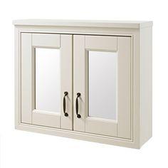 Alverton Ivory 700mm Solid Wood Mirror Cabinet - FAV002