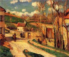Crossroads at l'Hermitage, Pontoise - Camille Pissarro