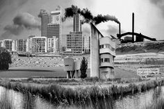 Fake landscapes, a combination of existing photographs and a new (silly) world.