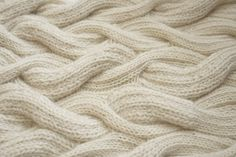 Cable knit sample with soft sinuous textures; knitting; knitwear design; textiles for fashion // Emma Brooks