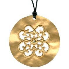 14KT Round Filigree Necklace  via Meigs Jewelry