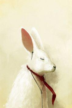 Rabbit With Headphones.