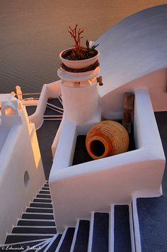 Stairs, Santorini, Greece