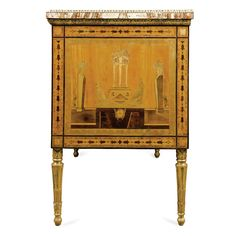 date unspecified An exceptional Italian alabaster topped, gilt-bronze mounted, giltwood, bois satiné and exotic woods marquetry and parquetry commode, Roman last quarter 18th century Estimate   150,000 — 250,000  GBP 223,500 - 372,500USD LOT SOLD. 121,250 GBP (180,663 USD) (Hammer Price with Buyer's Premium)