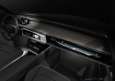 Making its premier at the Shanghai Show, the Audi Prologue allroad applies the brand's future design DNA to the trademark all-terrain models. Car Interior Sketch, Car Interior Design, Car Design Sketch, Automotive Design, Exterior Design, Car Sketch, Ui Design, Interior Photo, Interface Design
