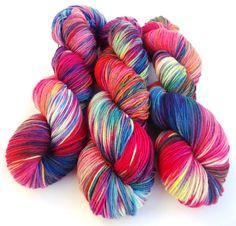 Hand painted Premium high twist sock yarn hand dyed: Laura