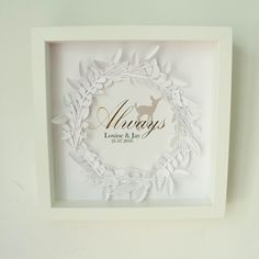 """Always"" Personalised Framed Couple Print - A beautiful engagement gift or wedding gift idea"