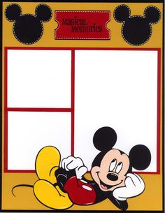 Mickey scrapbook page