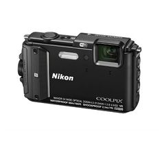 Nikon Coolpix AW130 16MP Waterproof Digital Camera with 5x Optical Zoom - Black (26491)