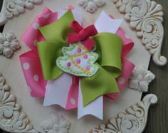 HAPPY HOLIDAYS Boutique Bow Set 8 Large by TheJellyBeanJunction