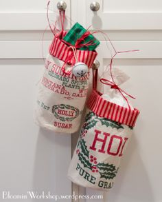 Christmas bags instead of stockings