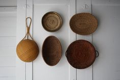 vintage basket collection by littlebyrdvintage on Etsy