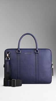 London Leather Crossbody Briefcase | Burberry