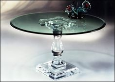 Upmarket-round-clear-perspex-end-table products, buy Upmarket-round-clear-perspex-end-table products from vanjin Double Pedestal Dining Table, Walnut Dining Table, Glass Dining Table, Wooden Dining Tables, Modern Dining Table, Dining Table In Kitchen, Dining Rooms, Console Table, Lucite Furniture