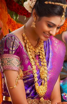 Breathtaking Bride in Purple and Gold