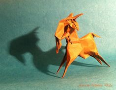 My first attempt to fold a goat Origami Models, Goats, Goat