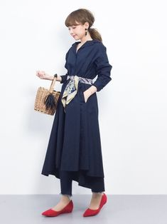 Casual Wear, Casual Dresses, Casual Outfits, Fashion Line, Fashion Details, One Piece Dress, College Fashion, Work Wardrobe, Japanese Fashion