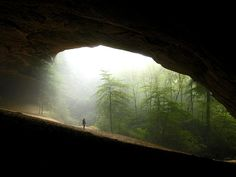 """8 mile hike to the """"sand cave"""" ~ Cumberland Gap national park - one of the most beautiful places on earth.  Need to go back."""