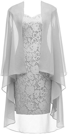 2 Pieces Lace Mother of The Bride Dress with Jacket Chiffon Formal Evening Dresses Formal Evening Dresses, Formal Gowns, Dress Formal, Long Dresses, Jacket Dress, Dress Skirt, Dress Brokat, Groom Dress, Mode Outfits