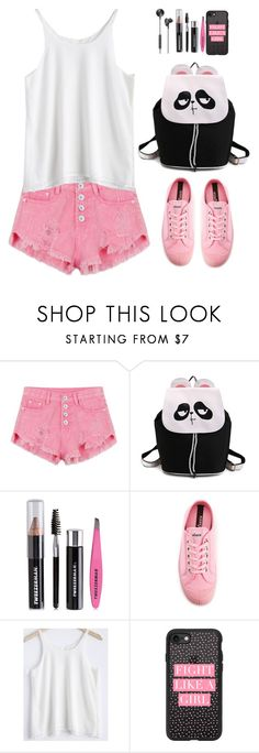 """Summer Staple: Denim Cutoffs (school girl style)"" by beebeely-look ❤ liked on Polyvore featuring Tweezerman, Novesta, Casetify, i.am+, ootd, DENIMCUTOFFS, cutoffs, coloredjeans and twinkledeals"