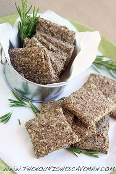 Super Easy Low Carb Homemade Crackers with Rosemary and Olive Oil | The Nourished CavemanThe Nourished Caveman