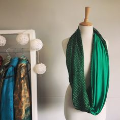 Emerald Green Silk Sari Snood Sari Fabric, Green Silk, Emerald Green, Scarves, Fashion, Scarfs, Moda, Fashion Styles, Fashion Illustrations