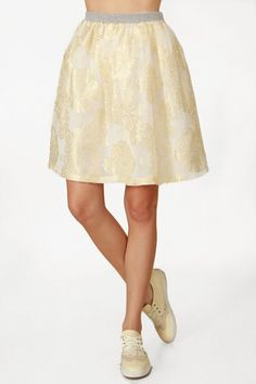 Gold Puff Skirt