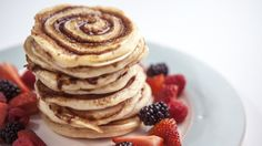 The cinnamon bun meets fluffy American-style pancake made with buttermilk. ~♡~