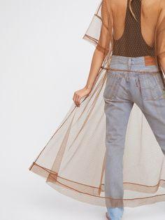 Intimately Sheer Dot Mesh Slip at Free People Clothing Boutique