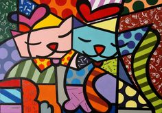 Aproveite o Quadro Romero Britto Graffiti Painting, Paint Photography, Cow Art, Arte Pop, Naive Art, Stone Art, Beautiful Paintings, Wallpaper, Painted Rocks