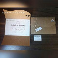 Convite de Casamento - Pássaros