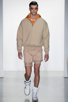 What are we calling this color? Sand dollar?   Calvin Klein Collection - Spring 2015 Menswear - Look 12 of 44